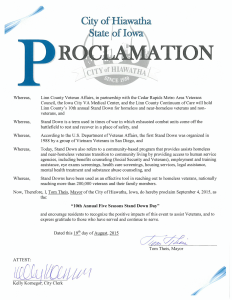 Vets Stand Down - Proclamation 2015 - Hiawatha-1