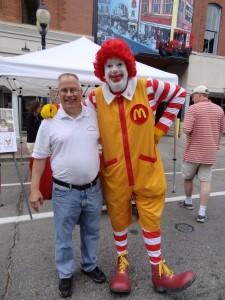 Don Tyne and Ronald McDonald