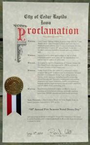 Vets Stand Down - Proclamation 2015 - Cedar Rapids