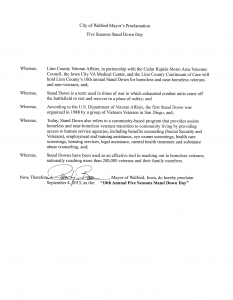 Vets Stand Down - Proclamation 2015 - Walford-1