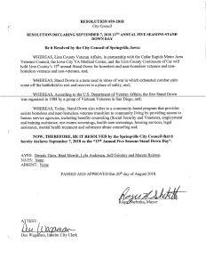 City of Springville proclamation 2018