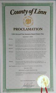Linn County Proclamation