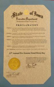 State of Iowa Proclamation